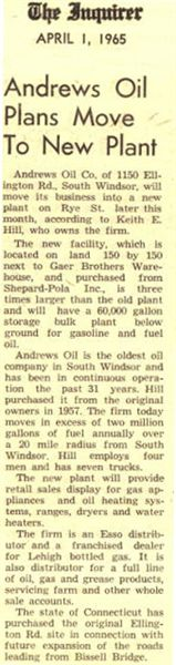 Andrews Oil Company, The Inquirer Newspaper